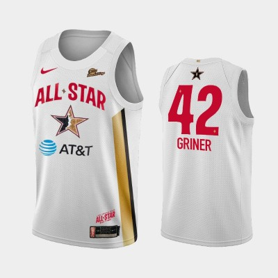 WNBA Phoenix Mercury Brittney Griner White 2019 All-Star Game Jersey