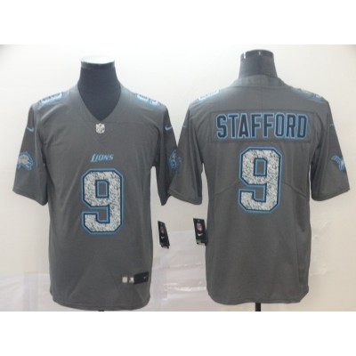 Nike Lions 9 Matthew Stafford Gray Static Vapor Untouchable Limited Men Jersey