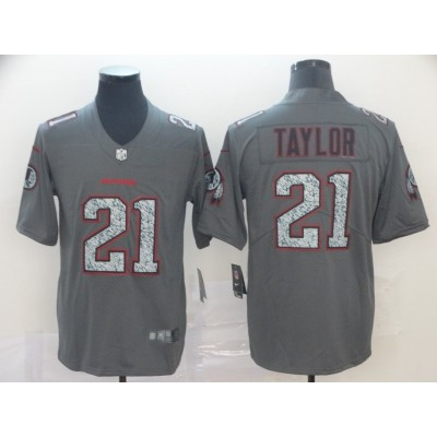 Nike Redskins 21 Sean Taylor Gray Static Vapor Untouchable Limited Men Jersey
