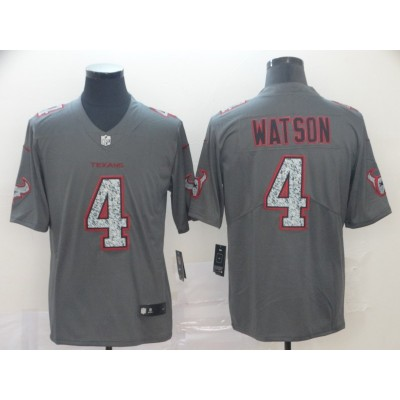 Nike Texans 4 Deshaun Watson Gray Static Vapor Untouchable Limited Men Jersey