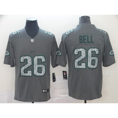 Nike Jets 26 Le'Veon Bell Gray Static Vapor Untouchable Limited Men Jersey