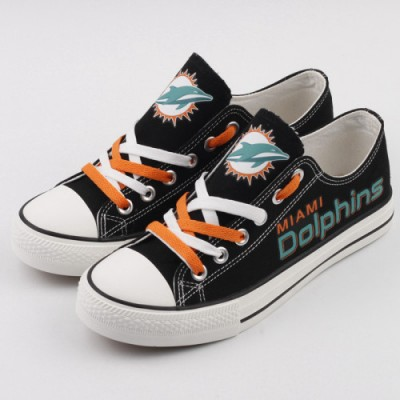 NFL Miami Dolphins Repeat Print Low Top Sneakers 007