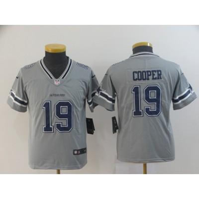 Nike Cowboys 19 Amari Cooper Grey Inverted Legend Youth Jersey
