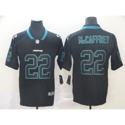 Nike Panthers 22 Christian McCaffrey Black Shadow Men Jersey