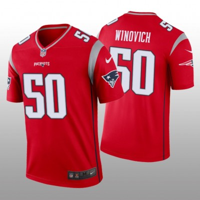 Nike Patriots 50 Chase Winovich Red Inverted Legend Men Jersey