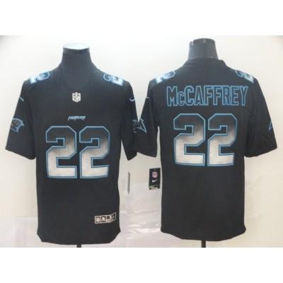 Nike Panthers 22 Christian McCaffrey Black Arch Smoke Vapor Untouchable Limited Jersey