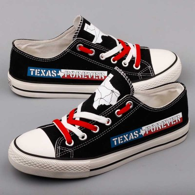 All Sizes NFL Houston Texans Repeat Print Low Top Sneakers 004