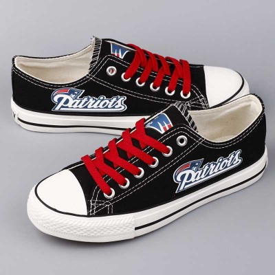All sizes NFL New England Patriots Repeat Print Low Top Sneakers 008