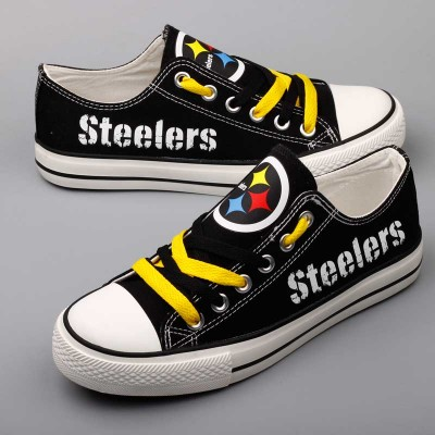 All Sizes NFL Pittsburgh Steelers Repeat Print Low Top Sneakers