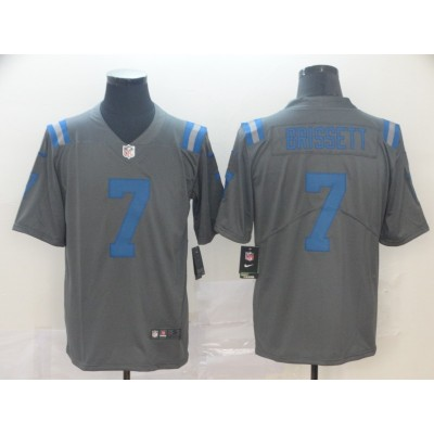 Nike Colts 7 Jacoby Brissett Inverted Legend Men Jersey