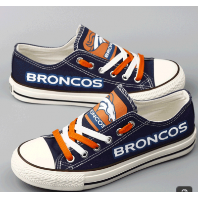 All Sizes NFL Denver Broncos Repeat Print Low Top Sneakers 007