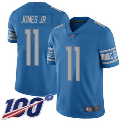 Nike Lions 11 Marvin Jones Jr. Blue 100th Season Vapor Untouchable Limited Men Jersey
