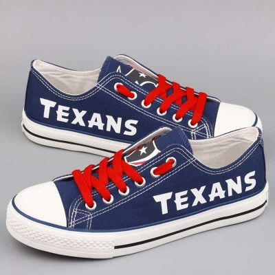 All Sizes NFL Houston Texans Repeat Print Low Top Sneakers 003