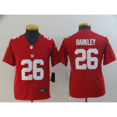Nike Giants 26 Saquon Barkley Red Inverted Legend Limited Youth Jersey