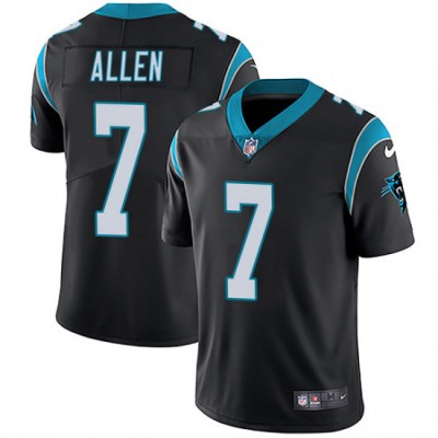 Nike Panthers 7 Kyle Allen Black Vapor Untouchable Limited Men Jersey
