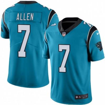 Nike Panthers 7 Kyle Allen Blue Vapor Untouchable Limited Men Jersey