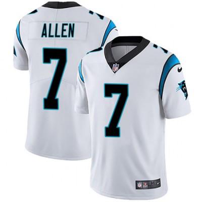 Nike Panthers 7 Kyle Allen White Vapor Untouchable Limited Men Jersey