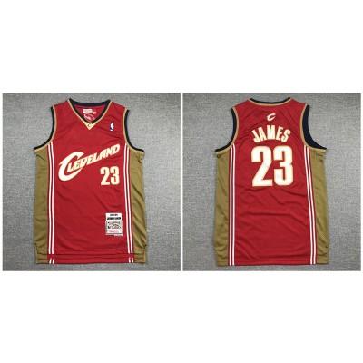 NBA Cavaliers 23 Lebron James Red 2003-04 Hardwood Classics Men Jersey