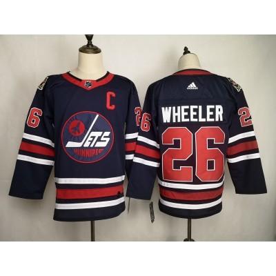 NHL Jets 26 Blake Wheeler Blue 2019 New Adidas Men Jersey