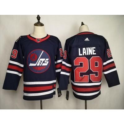 NHL Jets 29 Patrik Laine Blue 2019 New Adidas Men Jersey