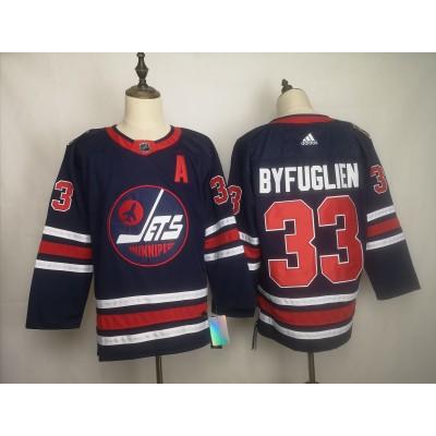 NHL Jets 33 Dustin Byfuglien Blue 2019 New Adidas Men Jersey