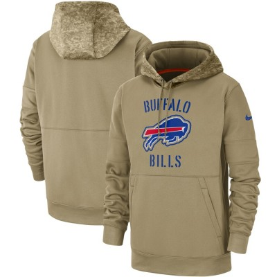 Nike Buffalo Bills Tan 2019 Salute To Service Sideline Therma Pullover Hoodie