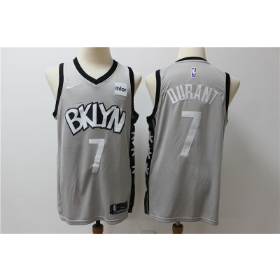NBA Nets 7 Kevin Durant Gray Nike New Men Jersey