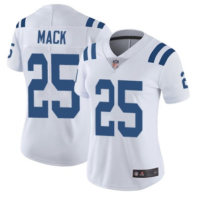 Nike Colts 25 Marlon Mack White Vapor Untouchable Limited Women Jersey