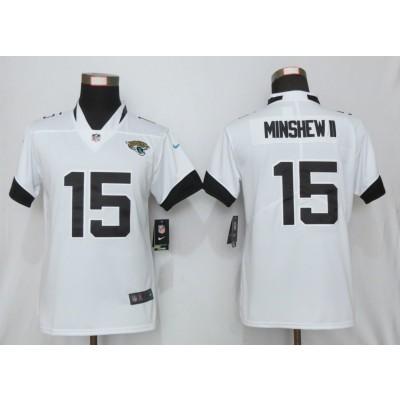 Nike Jaguars 15 Gardner Minshew II White Vapor Untouchable Limited Jersey