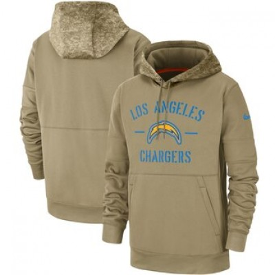 Nike Los Angeles Chargers Tan 2019 Salute To Service Sideline Therma Pullover Hoodie