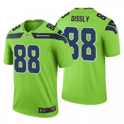 Nike Seahawks 88 Will Dissly Green Color Rush Limited Men Jersey