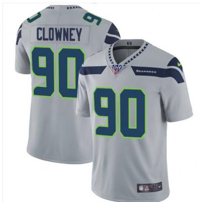 Nike Seahawks 90 Jadeveon Clowney Gray 100th Season Vapor Untouchable Limited Men Jersey
