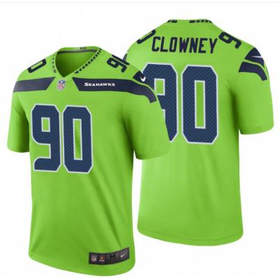 Nike Seahawks 90 Jadeveon Clowney Green Color Rush Limited Men Jersey