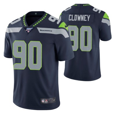 Nike Seahawks 90 Jadeveon Clowney Navy 100th Season Vapor Untouchable Limited Men Jersey
