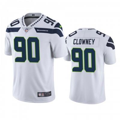 Nike Seahawks 90 Jadeveon Clowney White Vapor Untouchable Limited Men Jersey