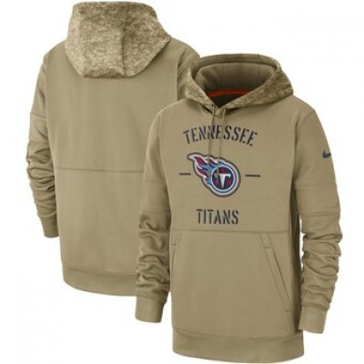 Nike Tennessee Titans Tan 2019 Salute To Service Sideline Therma Pullover Hoodie