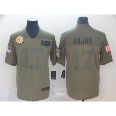 Nike Packers 17 Davante Adams 2019 Olive Salute To Service Limited Men Jersey