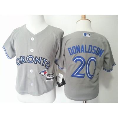 MLB Blue Jays 20 Josh Donaldson Grey Toddler Jersey