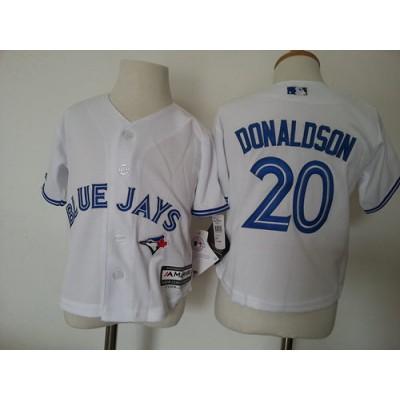 MLB Blue Jays 20 Josh Donaldson White Toddler Jersey