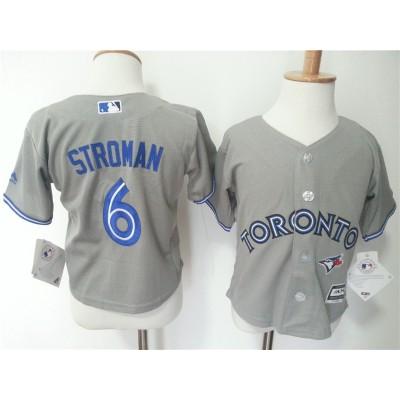 MLB Blue Jays 6 Marcus Stroman Grey Toddler Jersey