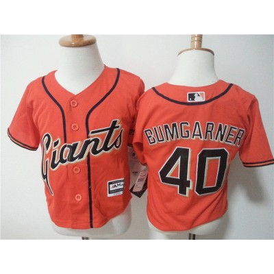 MLB Giants 40 Madison Bumgarner Orange Toddler Jersey