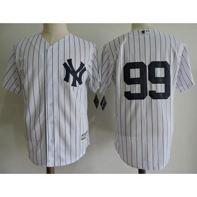 MLB Yankees 99 Aaron Judge White Cool Base Toddler Jersey(without name)