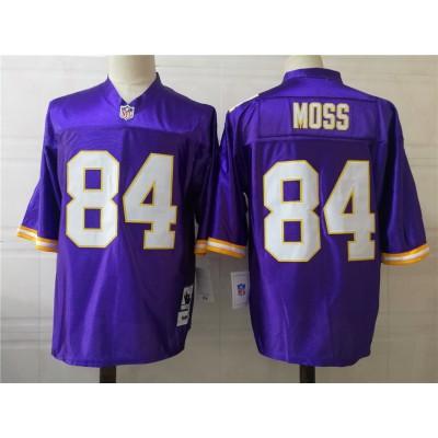 NFL Vikings 84 Randy Moss Purple Throwback Men Jersey