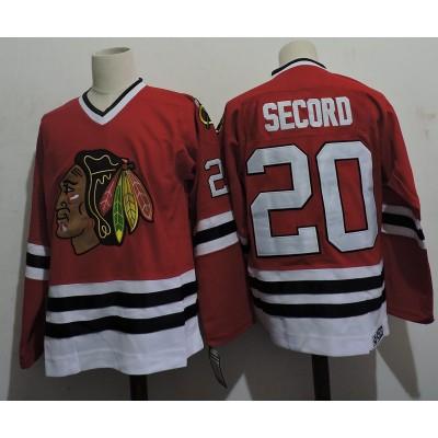 NHL BlackHawks 20 AL SECORD Throwback Men Jersey