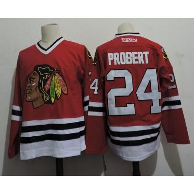 NHL Blackhawks 24 Bob Probert Throwback Men Jersey