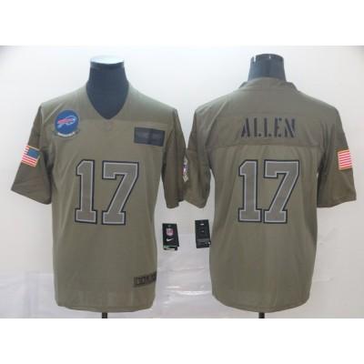 Nike Bills 17 Josh Allen Olive 2019 Salute To Service Limited Men Jersey