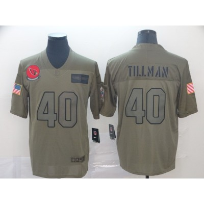 Nike Cardinals 40 Pat Tillman 2019 Olive Salute To Service Limited Men Jersey