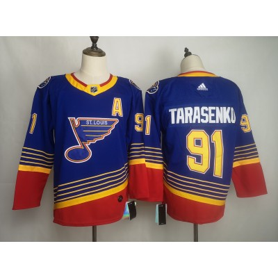 NHL Blues 91 Vladimir Tarasenko Throwback Blue Men Jersey