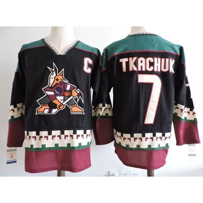 NHL Coyotes 7 Keith Tkachuk Black Men Jersey