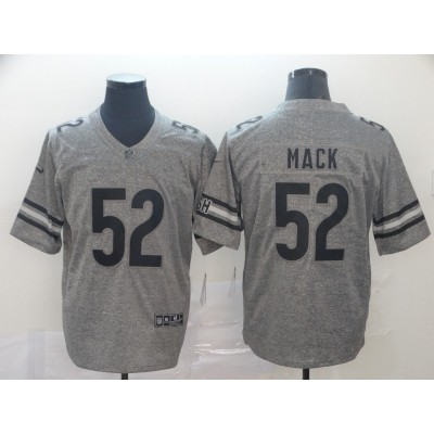 Nike Bears 52 Khalil Mack Gray Gridiron Limited Men Jersey
